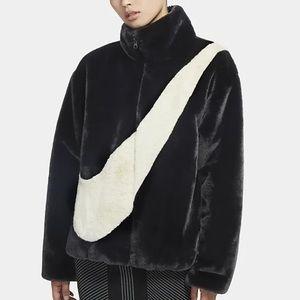 NWT Nike Faux Fur Jacket Size S